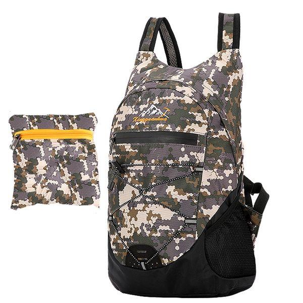 Folding Backpack Camo Lightweight Foldable Bag Bike Ultralight Men Military bag Waterproof Portable Outdoor Rucksack 10L 20L 30L #489602