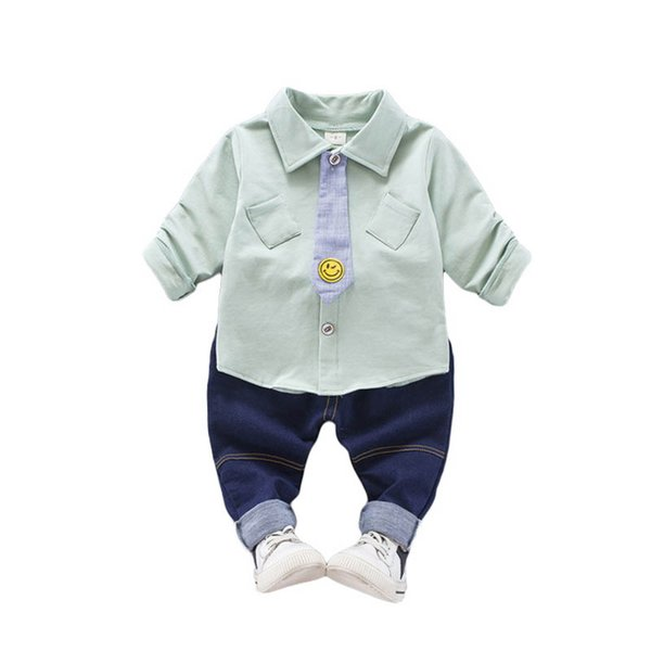 f4c55d9bbbf0 baby boy clothes Kids Designer Clothes Boys Clothing Sets long sleeve  shirt+Jeans Boys Suits