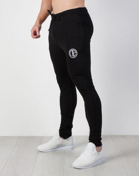 2019 Novo padrão de fitness calças de corrida dos homens calças de lazer, primavera calças de corrida de primavera e calças de ginástica de Outono