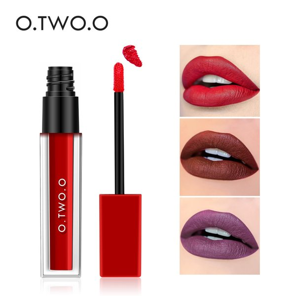 O.TWO.O Liquid Matte Waterproof Lipgloss Long Lasting Mate Batom Levre Lipstick Sexy Red Lips Tint Makeup Brand Beauty Lip Gloss
