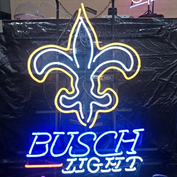 BUSCH LIGHT Neon Sign Light Benutzerdefinierte Outdoor Indoor Club Display Unterhaltung Dekoration Bier Neon Lampe Licht Metallrahmen 17 '' 20 '' 24 '' 30 ''