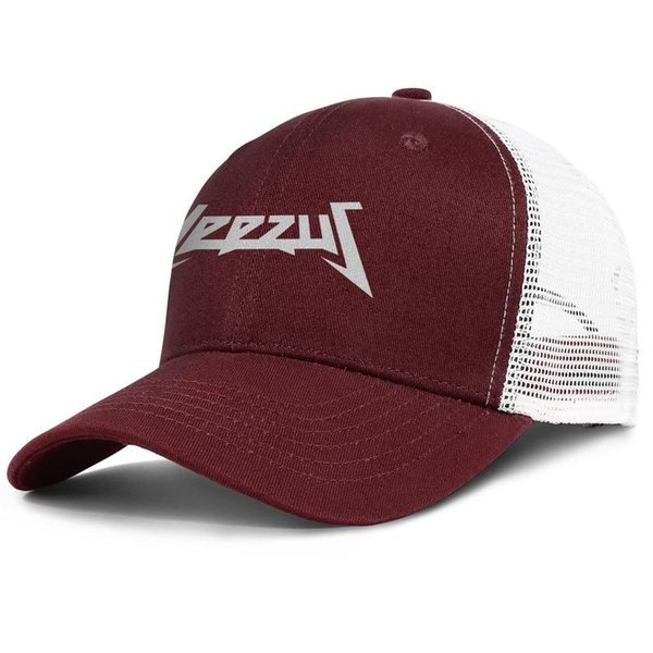 Kanye West New yeezus logo white burgundy for men and women trucker cap ball styles fitted team hats
