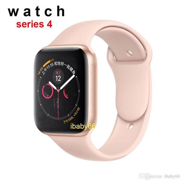 DHL Livre Goophone iwatch4 44mm relógio Inteligente de Aço Inoxidável Série 4 Sem Fio de Carregamento de Freqüência Cardíaca para Android iphone X XR MAX smartwatch