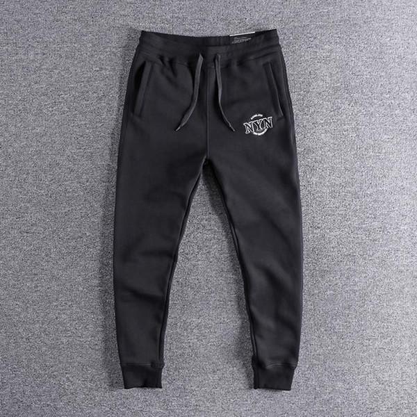 2019 nuovo XL Tre ricamo tridimensionale lettera inverno felpa Leggings giovanili caldi uomini pantaloni casual bel ragazzo di alta qualità L