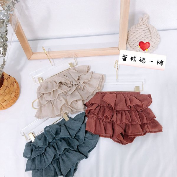 3 Colors 2019 New Baby ruffle bloomers Korean Infant Toddle Summer Cotton Cake Skirts Short Pant Kids Fashion Casual Bloomer boutique cloth