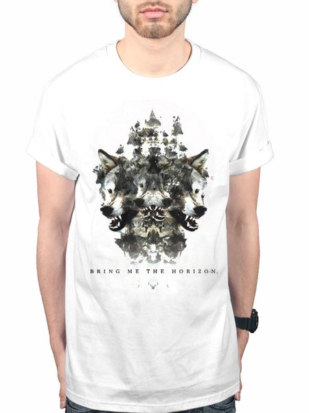 Ufficiale Bring Me The Horizon Wolven Version 2 'New Unisex T-Shirt Band Merch divertente 100% cotone t shirt stile tondo stile tshirt