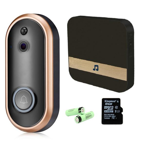 Görüntülü Kapı Telefonu WiFi Akıllı Kablosuz Güvenlik Kapı Zili Akıllı 1080 P Görsel Interkom Kayıt Uzaktan Ev Monitör Gece Görüş ba ...