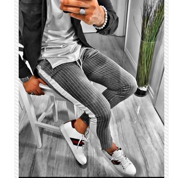 calças compridas cinza