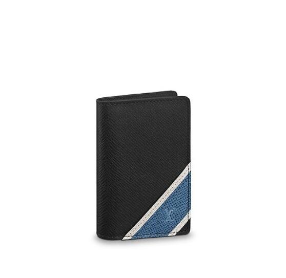 M64017 Pocket Organiser MEN REAL LEATHER LONG WALLET CHAIN WALLETS COMPACT PURSE CLUTCHES EVENING KEY CARD HOLDERS