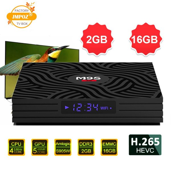 Newest M9S W6 Android 7.1.2 TV Box Quad Core 2G 16GB Amlogic S905W 4K Media Player IPTV Box Support 3D Free Movie Better MXQ PRO 2GB