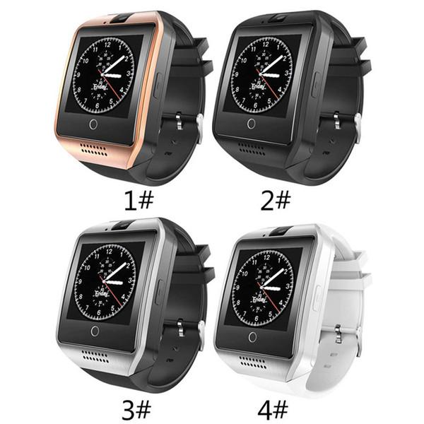 Envío DHL El mejor reloj Q18 Smart Watch Bluetooth Relojes inteligentes para teléfonos celulares con soporte Tarjeta SIM Respuesta de cámara Respuesta Envío de llamadas DHL
