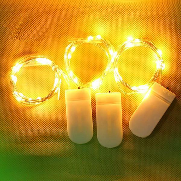 lumières led chaîne décoration de mariage lumières de la chaîne décoration de la maison fleurs gâteaux lumières de décoration de Noël bouton boîte de batterie
