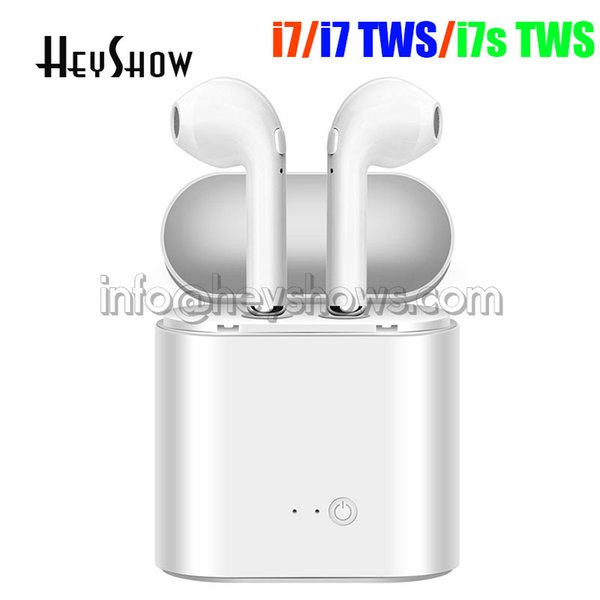i7 i7s TWS Wireless Bluetooth Earphones In-Ear Music Earbuds Mic Stereo Mini Headset With Charging Box for Phone Android iphone Retail Box