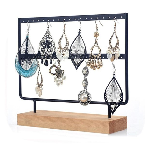 New Design 24/44 Holes 2 Layers Earrings Ear Studs Organizer Rack Jewelry Display Stand