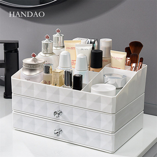Acheter Nouvelle Salle De Bains Bureau Maquillage Organisateur Tiroir Boîte  De Rangement En Plastique Coiffeuse Cas De Cosmétiques Bijoux Petit Objet  ...