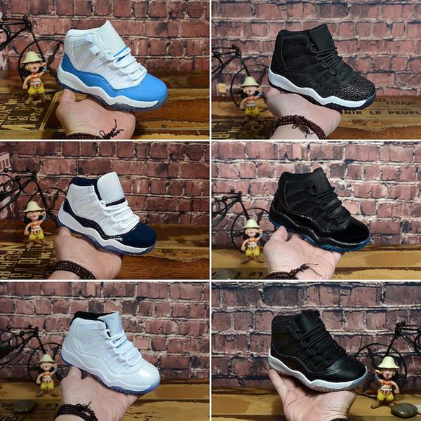 Nike Air Jordan 11 2019 Migliori 11 scarpe da ginnastica per bambini Gamma Blu Nero Bred Concord Space Jam Infrarossi Georgetown Legend Blue Scarpe per ragazze da ragazzo