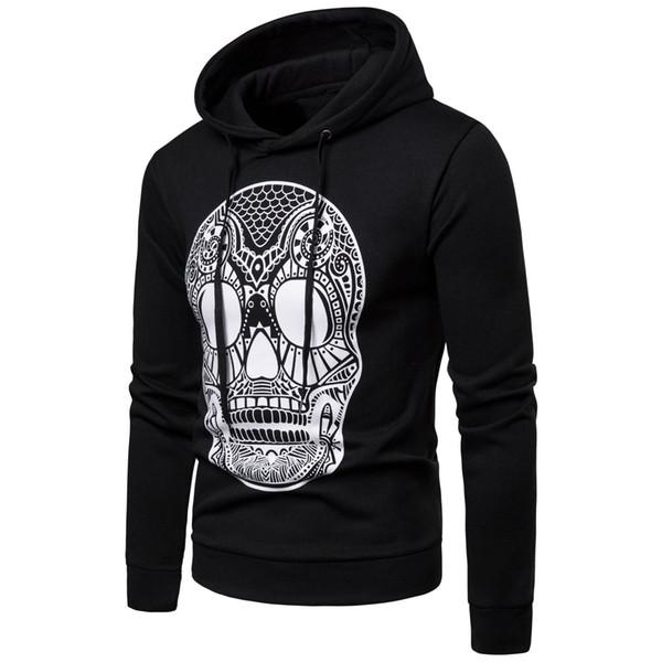 Mens Skull Designer Hoodies Men Male Hommes Sweatshirts Casual Tops Autumn Spring Clothes