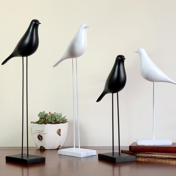 Europea fornire domestico i mestieri della decorazione resina uccelli Statua decori ornamento artigianato Doves Scultura Office Desktop Figurine