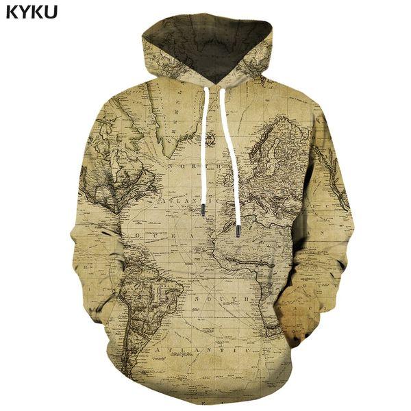 wholesale Brand World Map Hoodie Men Geometric Hoody Anime Vintage Hoodes 3d Funny Hoodie Print Gothic Hooded Casual Unisex Fashion