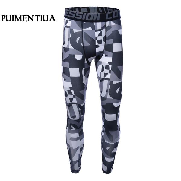 Puimentiua Spring Autumn Men Camouflage Compression Pants Sports Running Jogging Gym Clothing Leggings Sportswear Elastic Pants