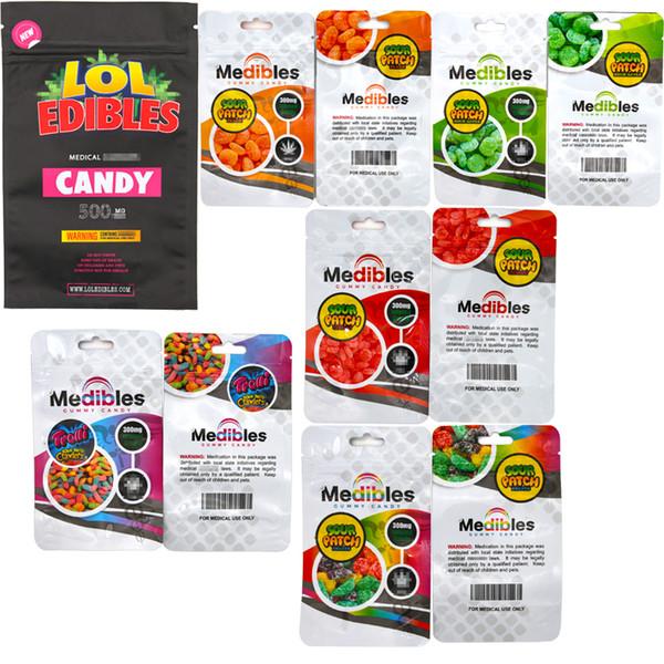 top popular Medibles gummy candy bag LoL edibles candy bag Runtz Chuckles Zipper Bags Cookies Connected Jungle boys Garrison Lane Alien Labs Package 2020
