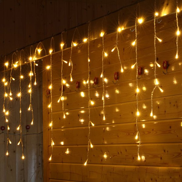 6M * 1M 256 LED Icicle Lights Window String Lights 8 Modes Xmas Window  Curtain Lights For Home Garden Bedroom Wedding Party Wall Decorations  Battery