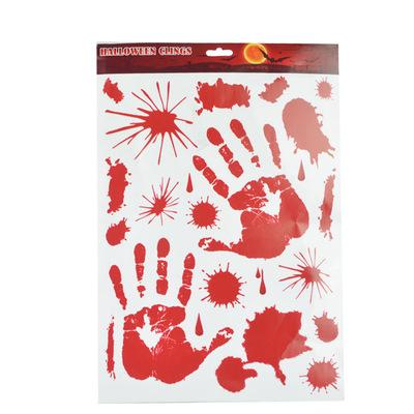 Compre Bloody Hand Foot Halloween Wall Stickers Wallpaper Papier Peint 3d Para La Decoración Del Hogar Cuarto De Baño Accesorios De Cocina Accesorios