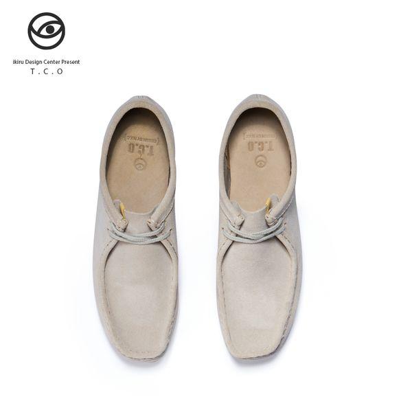 2019 beste Qualität Tco Känguru Schuhe Männer Niedrige Hilfe Wallabee Stiefel Vintage England Wind Casual Rohgummi Herrenschuhe TCO ikiru
