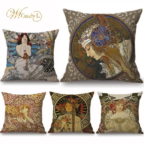 Temperate Classic Linen Cotton Blend Cushion Cover Home Sofa Square Pillow Case Decorative Cushion Covers Pillowcases Cushion Cover