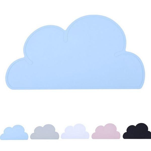 Cartoon Cloud Silicone Placemat Heat Resistant Plate Mat Children Bowl Coaster New
