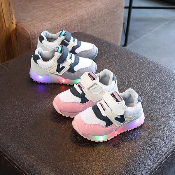 Baby Led Sport Shoes Toddler Baby Kids Boys Girls Luminous Sneakers Light Up Shoes Mocassins Sport Running LED Anti-Slip Shoes