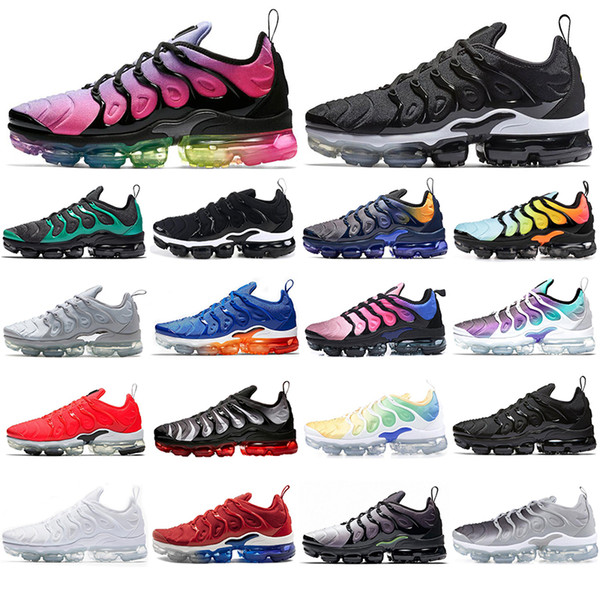 Free Shipping New 2019 Mens Shoe Sneakers TN Plus Breathable Air Cusion Desingers Casual Running Shoes New Arrival Color EUR36-45