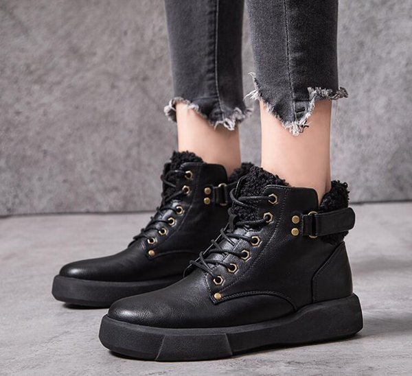 genuine leather zipper high-heeled breathable classic elegant boots shose cancise pumps winter soft and comfortable wedges wome