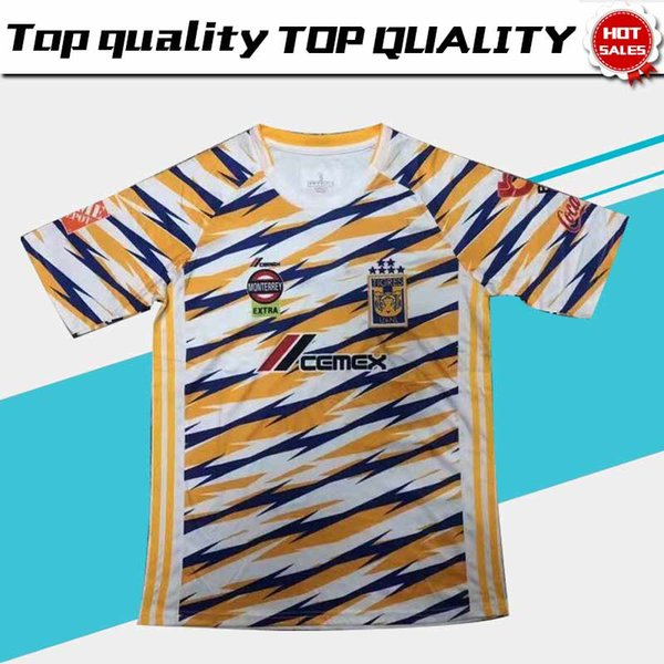 New 2019 Tigres UANL Third Soccer Jersey Tigers UANL 3rd jersey 19/20 Adult Soccer Shirt Mexico Club Football Uniform Sales