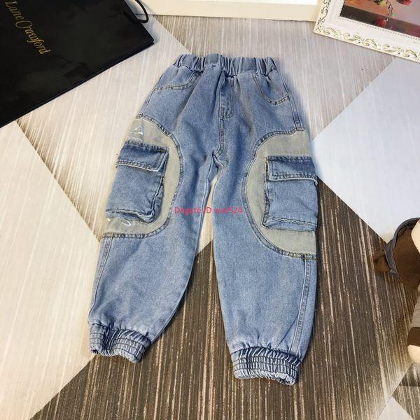 Autumn new boys jeans pants kids designer clothes washed denim fashion classic jeans size 110-160cm