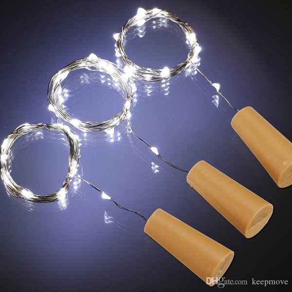 1M 10LED 2M 20LED Lamp Cork Shaped Wire Bottle Stopper Light Glass Wine LED Copper Wire String Lights For Xmas Party Wedding Halloween