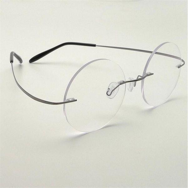 Оптово-Стив Джобс звезда Стиль Сверхлегких памяти Титанового Rimless Близорукость E Оптических очки кадр Мужчина очки óculos De Grau 6Pcs / Lot
