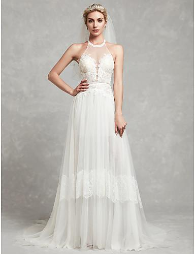 2020 New Wedding Dresses Free and Light Simple Dresses High Quality Floor Length Brides Dresses Chinese Factory High Standard Man Made