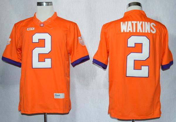 New Arrival Clemson Tigers Sammy Watkins 2 Limited s-Orange Size M,L,XL,2XL,3XL Jersey