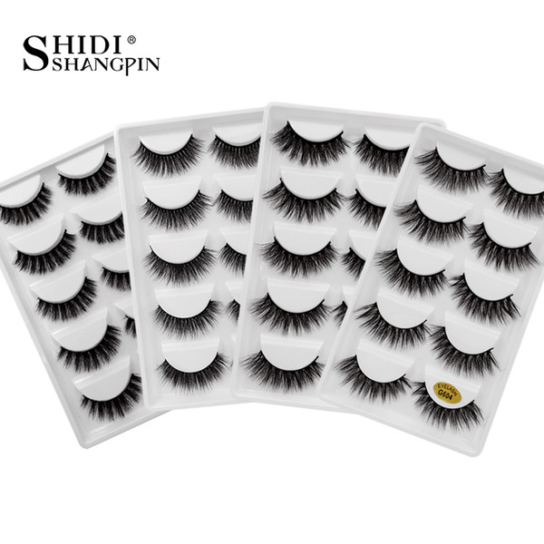 SHIDISHANGPIN mink lashes 30 boxes mink eyelashes bulk false eyelashes wholesale makeup strip lashes natural long G6