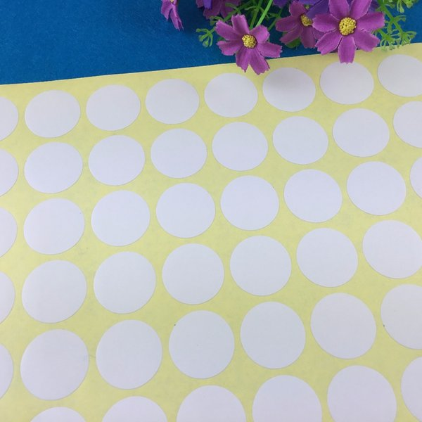 Ücretsiz kargo 3000 adet toptan Boş beyaz Kağıt Etiket Etiket Yuvarlak Şekil Diy Kraft Etiket Etiket 3 cm