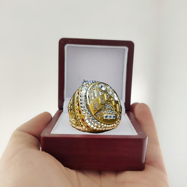 best selling 2019 wholesale Toronto 2018-2019 Raptors Championship ring with Wooden Display Box Men Fan Gift 2019 wholesale Drop Shipping