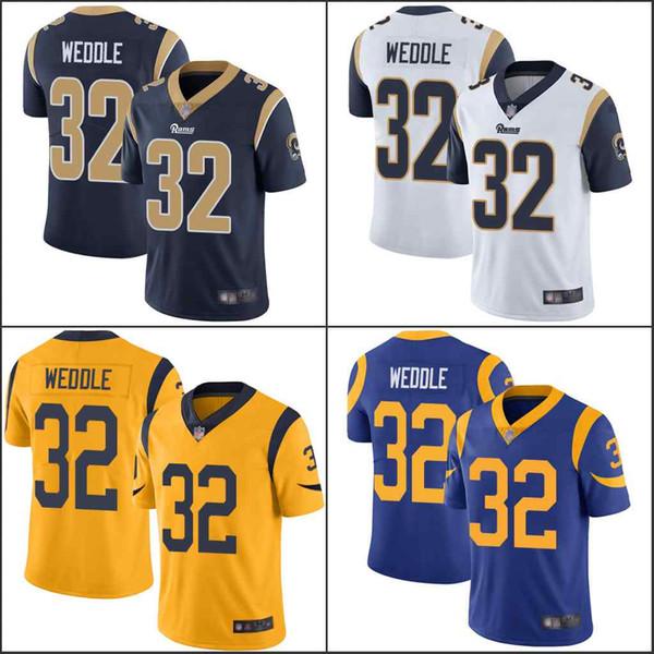 los AngelesPega # 32 Eric Weddle real blanco Oro azul Hombres Mujeres Jóvenes cosidoNFL vapor Intocable Limited Jersey
