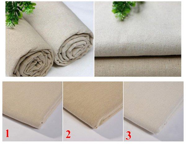 50 * 150cm tessuto di lino naturale per ricamo patchwork dell'ago costura tessuti per cucire Tissus Tela feltro shabby chic bambola di tilda