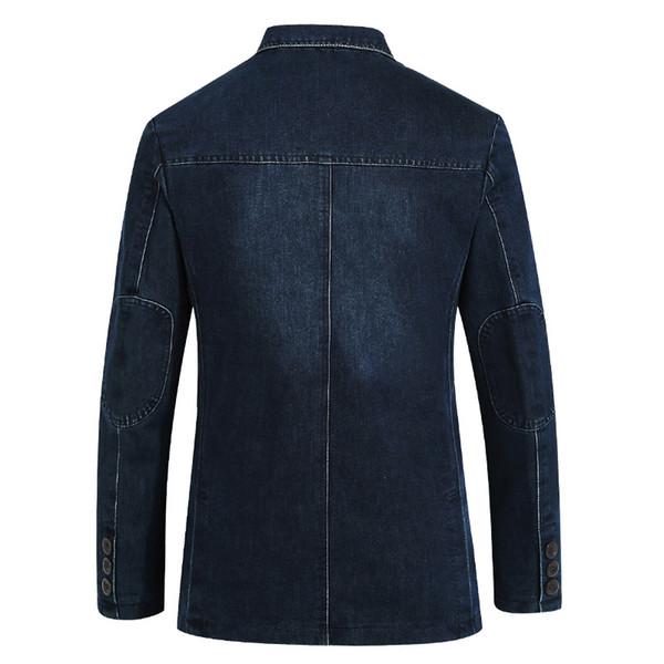 17f3f6ba130 Lonmmy Jeans Blazer Мужчины 80% Хлопок Ковбойская Куртка Джинсовая Куртка  Мужчины Blazer Костюмы Для Мужчин Jaqueta Бренд-одежда Мода M-4xl Y190420