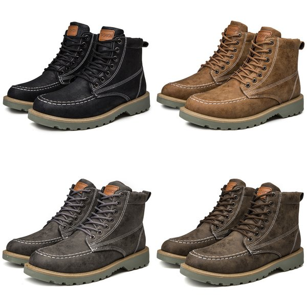 men's high boots ankle dr martin booties fashion casual shoes for men sneakers man botas hombre footwear male krasovki adult
