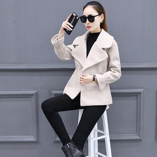 capa delgada traje de tweed nuevo abrigo de paño dama de la moda abrigo corto de las mujeres VESTIDOS ropa sólida del diseño del tamaño S-3XL AE922