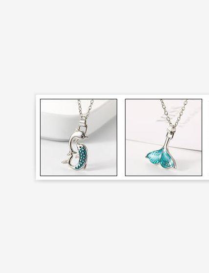 Best-seller Creative Universal Ocean Series Chanceux Fishtail Collier Dame avec tempérament de vent froid haute chaîne de la clavicule
