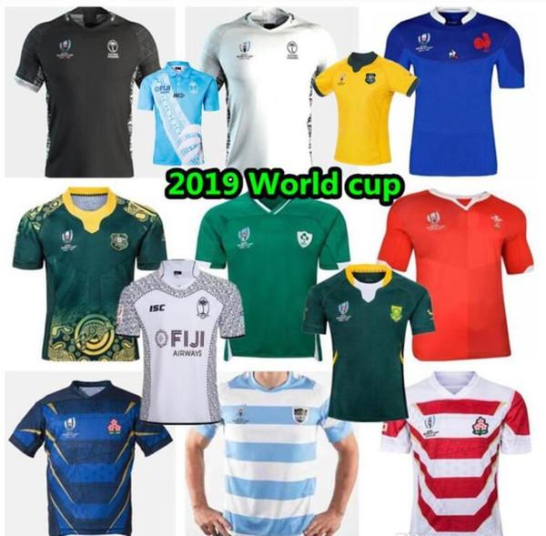 2019 Coupe du Monde de Rugby Toutes les équipes Maillots fidji Ecosse tonga Samoa Italie Anglais Argentine Australie Nouvelle-Zélande shirt rugby français Irlande 20