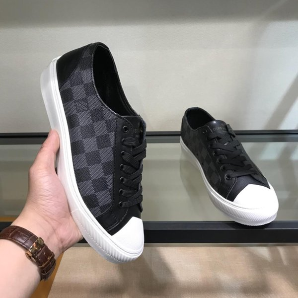 2019s new printed casual shoes men's shoes comfortable breathable low to help running shoes original box packaging 38-44